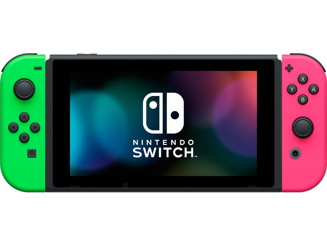 Psa Switch With Neon Pink And Green Joycons Available For 275 On Nintendo S Website Nintendo Switch System Nintendo Eshop Nintendo Switch