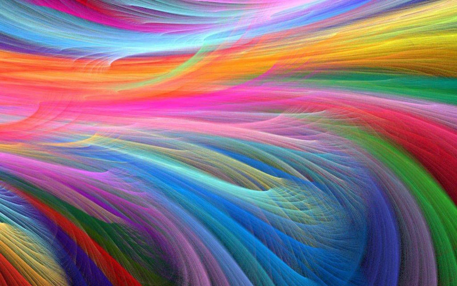Colorful Abstract Art Wallpaper Free Rainbow Wallpaper