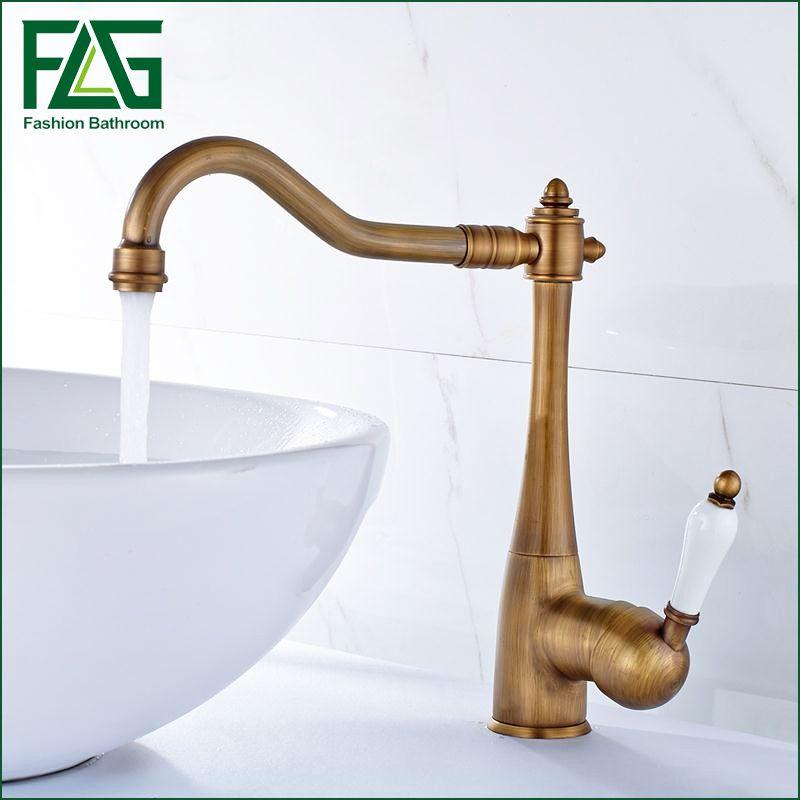 Reviews Antique Bronze Kitchen Faucet Bathroom Antique Brass Sink ...