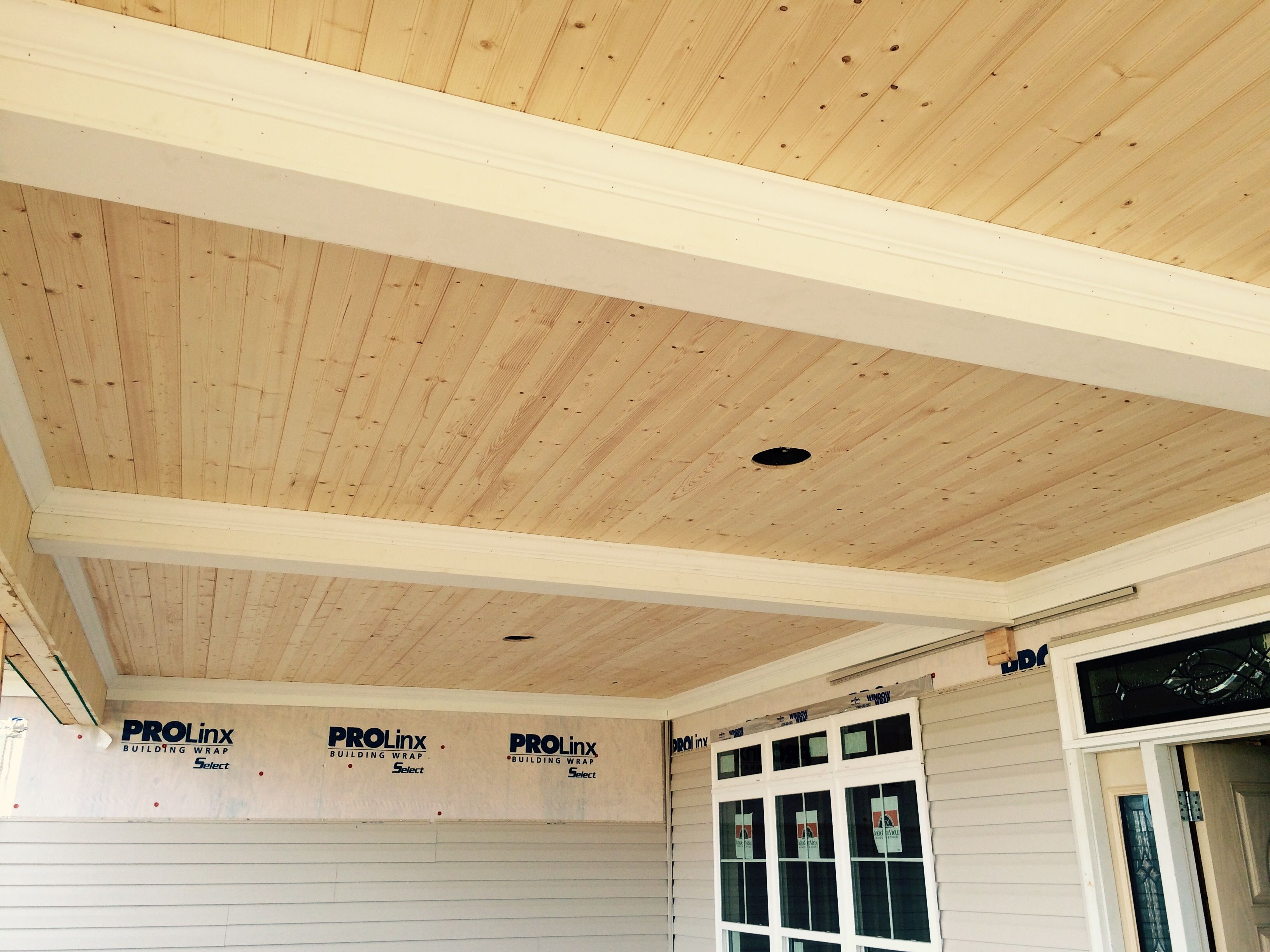 1x6 Knotty Pine T G On A Porch Ceiling