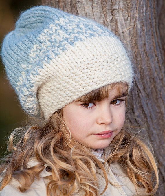 DIY Easy Knittting Pattern Hat in two colors 14c6df130