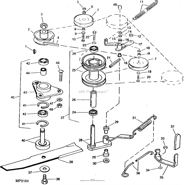 John-Deere-Parts-Diagrams-John-Deere-Mower Deck Sheaves 46