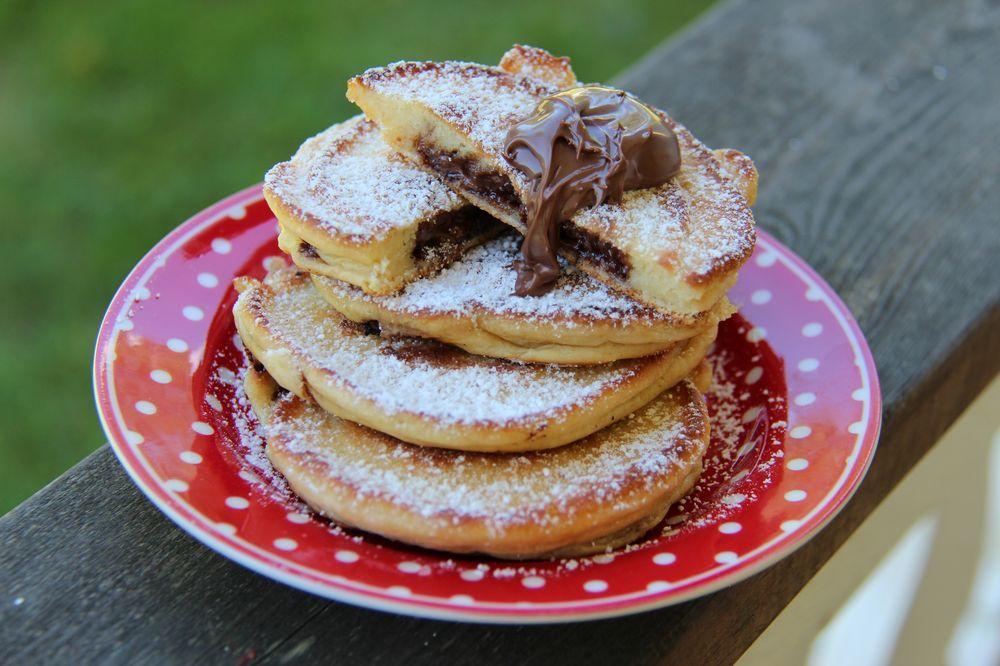 amerikanska pannkakor med nutella