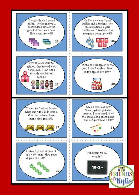 Word Problems Task Cards: Addition and Subtraction | Word problems ...