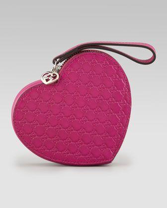 6358a1cbbb2 Gucci Micro Guccissima Heart Wristlet - Bergdorf Goodman