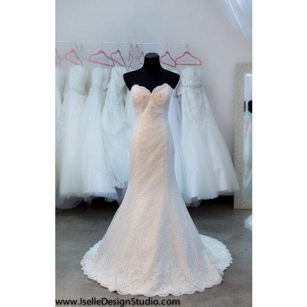 Sample Lace Wedding Dress Mermaid Ivory Sweetheart Neckline Fit and ...