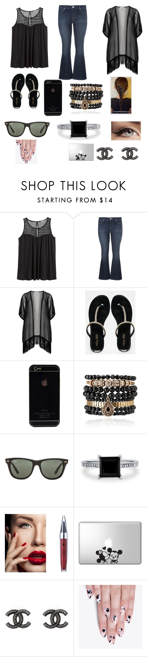 """""""Plus size"""" by emmajean239 ❤ liked on Polyvore featuring H&M, maurices, Maxima, Miss KG, Samantha Wills, Ray-Ban, BERRICLE, Disney, Chanel and alfa.K"""