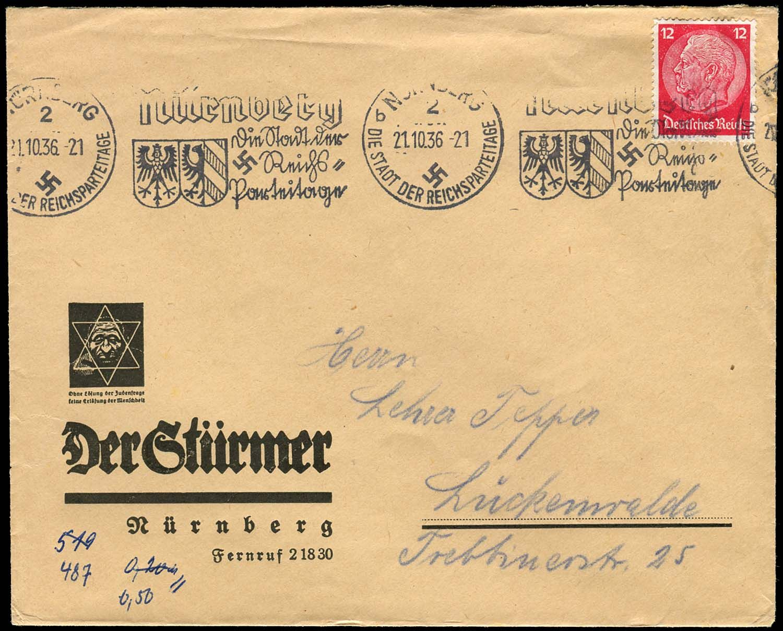 1930s-40s ANTI-SEMITIC POSTCARDS & COPY OF 'DER STURMER ...