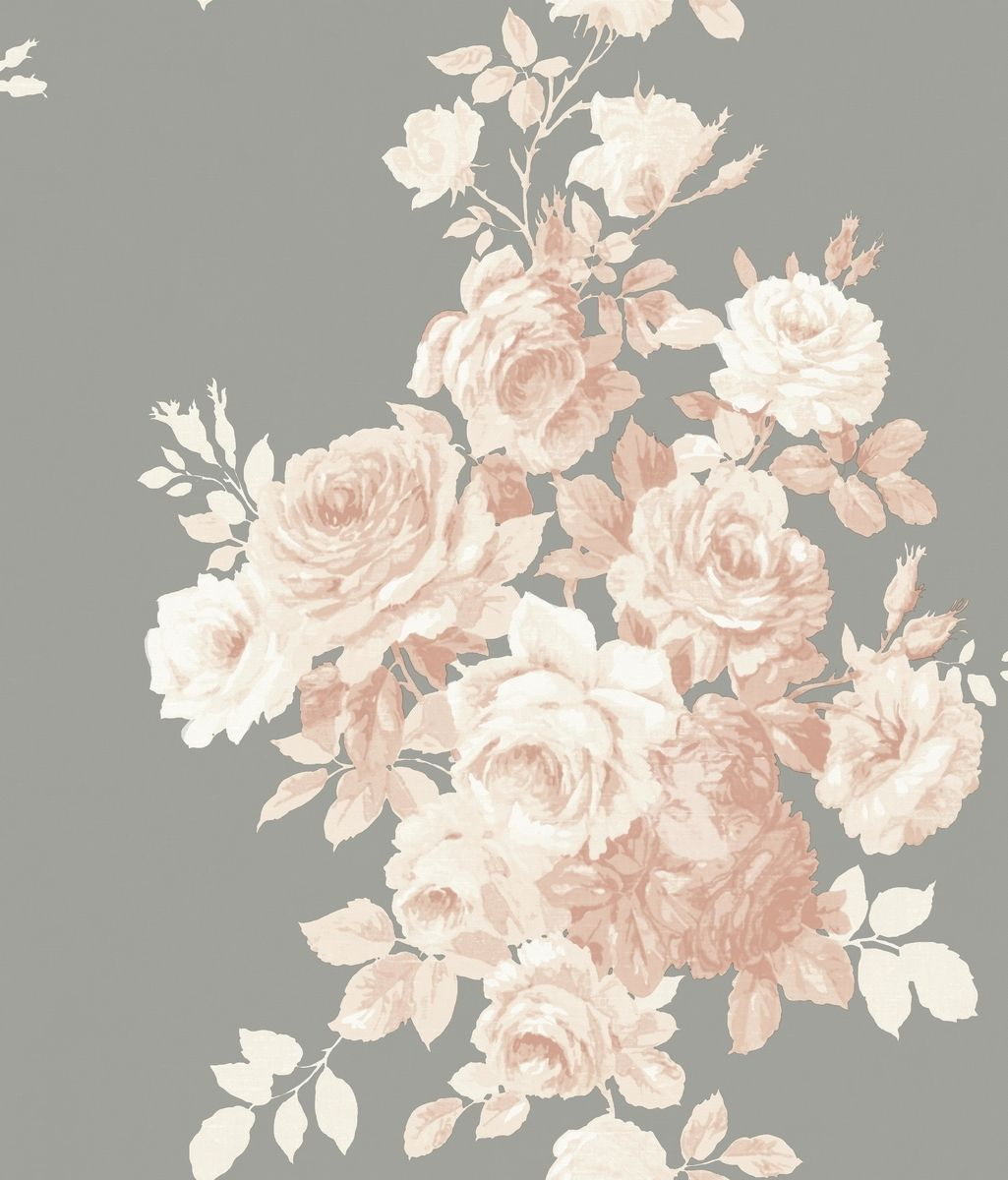 York Wallcoverings Me1530 Magnolia Home Vol Ii Tea Rose Blush Grey Magnolia Homes Joanna Gaines Wallpaper Grey Wallpaper