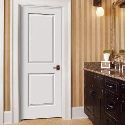 Home Depot Jeld Wen Smooth 2 Panel Painted Molded Interior Door In