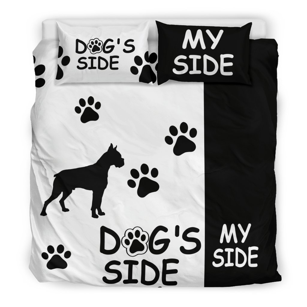Bettwäsche Dog Side Boxer Dog S Side My Side Bedding Set White Black Teen Room Stuff