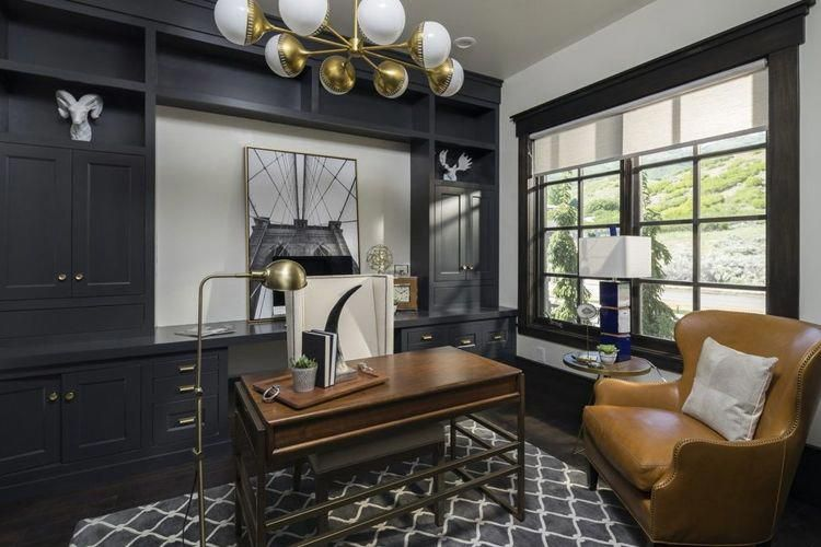35 Masculine Home Office Ideas Inspirations Contemporary