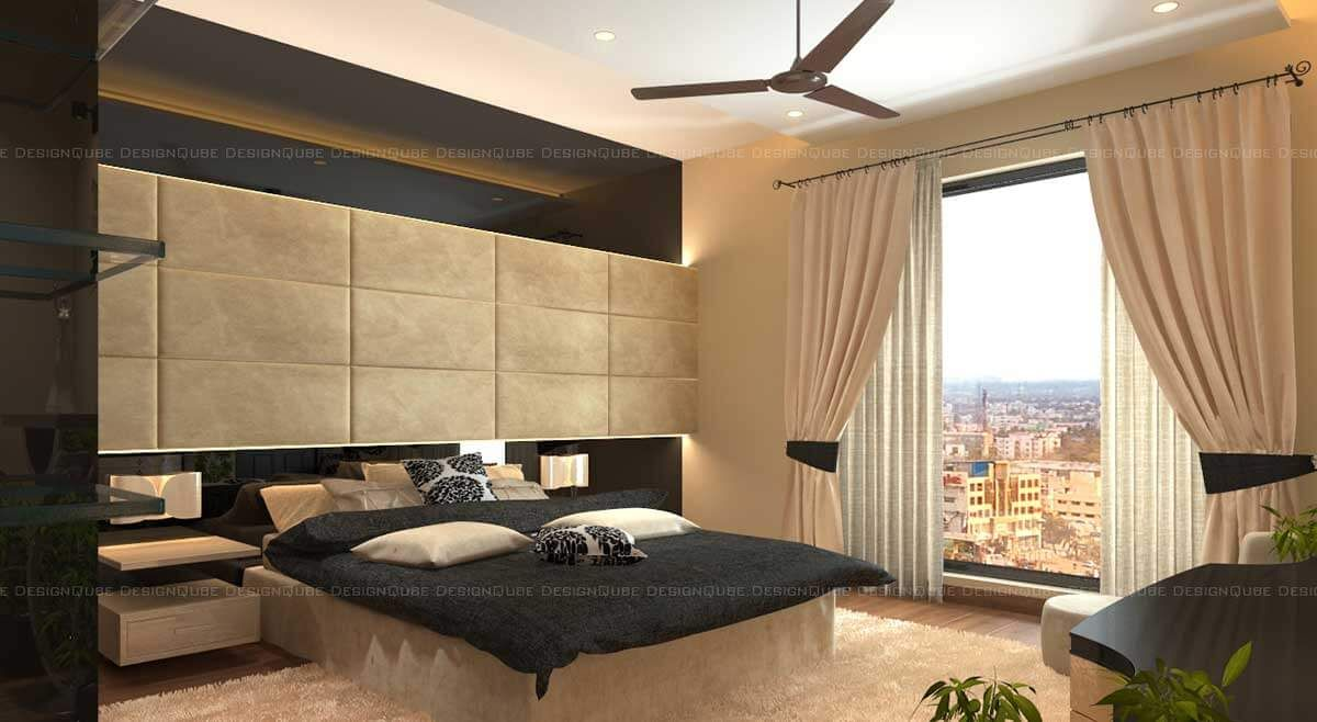 Bedroom With Mirror Design By Karthikeyan Perumal Architect In