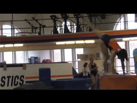 Alina Weinstein, of the Illinois gymnastics team, recently broke two school records this past Saturday in the all-arounds and also floor routine. As she is excited about the win, Alina is also humbly enthused about the advancement of the gymnastic program and hopes they can continue to grow. She is very proud to be considered a record breaker and to have her name shine with the big names and previous record breakers.