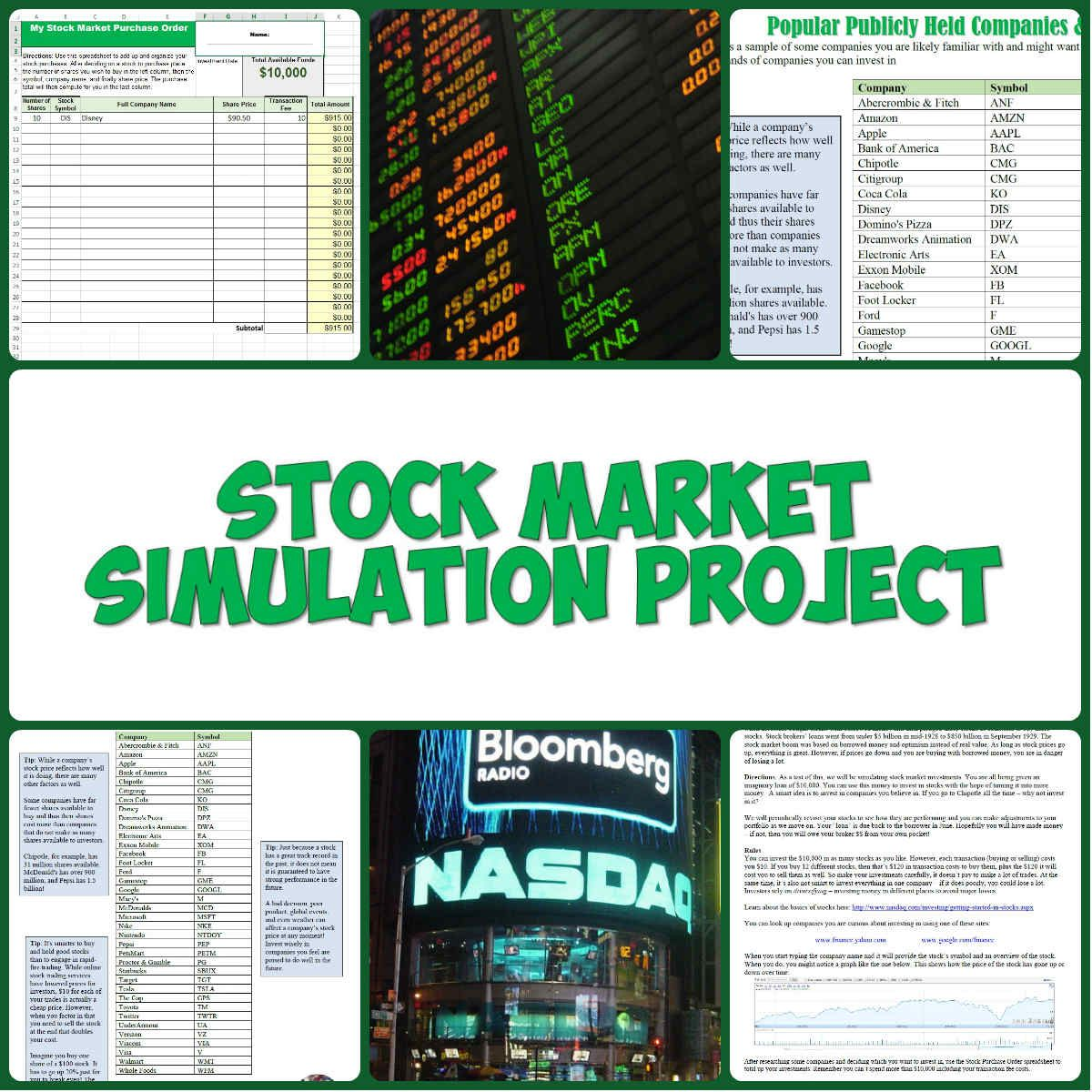 this fun and informative stock market project has students research companies they want to invest in