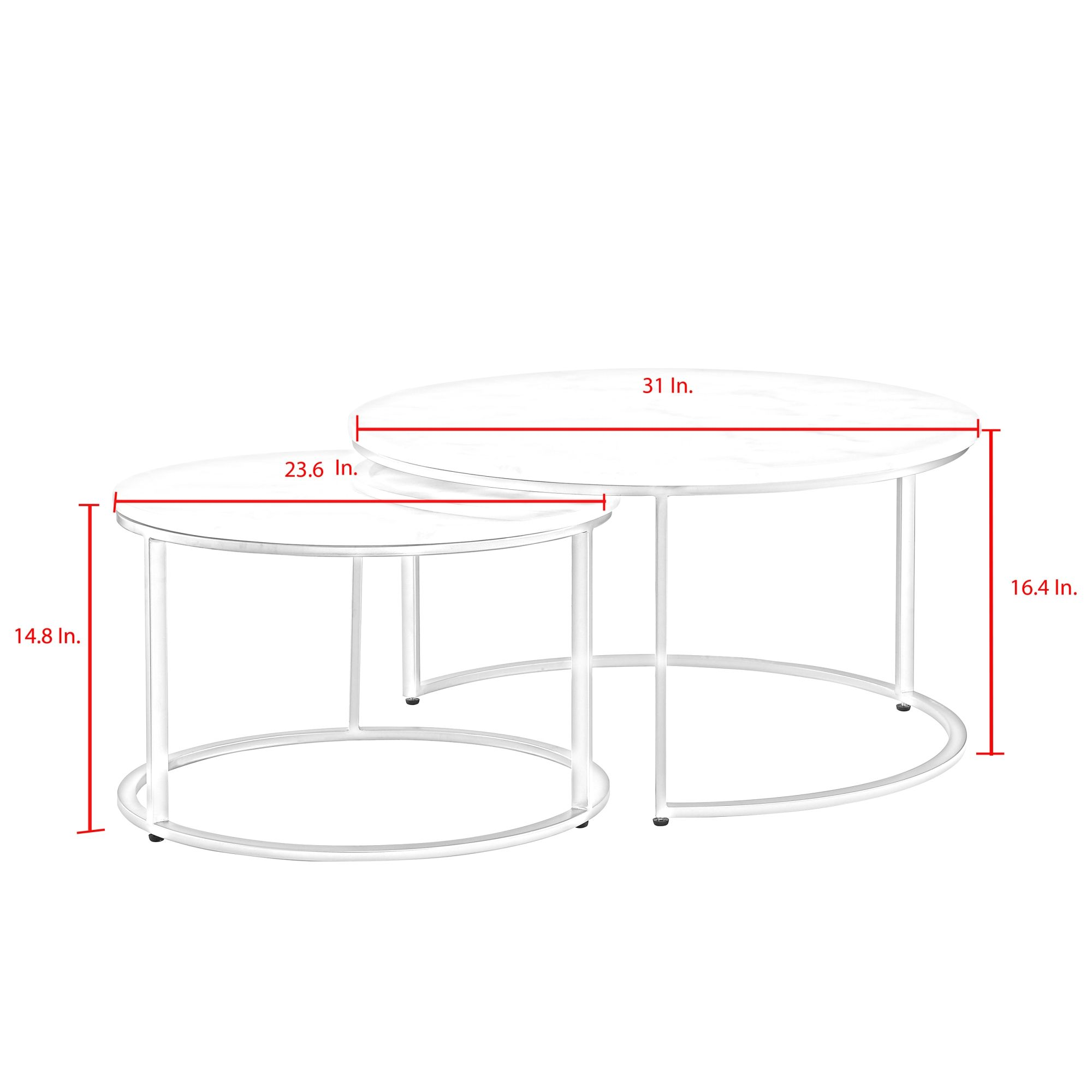 Irene Round Top Nesting Coffee Table In 2021 Coffee Table Nesting Coffee Tables Coffee Table Metal Frame [ 2000 x 2000 Pixel ]