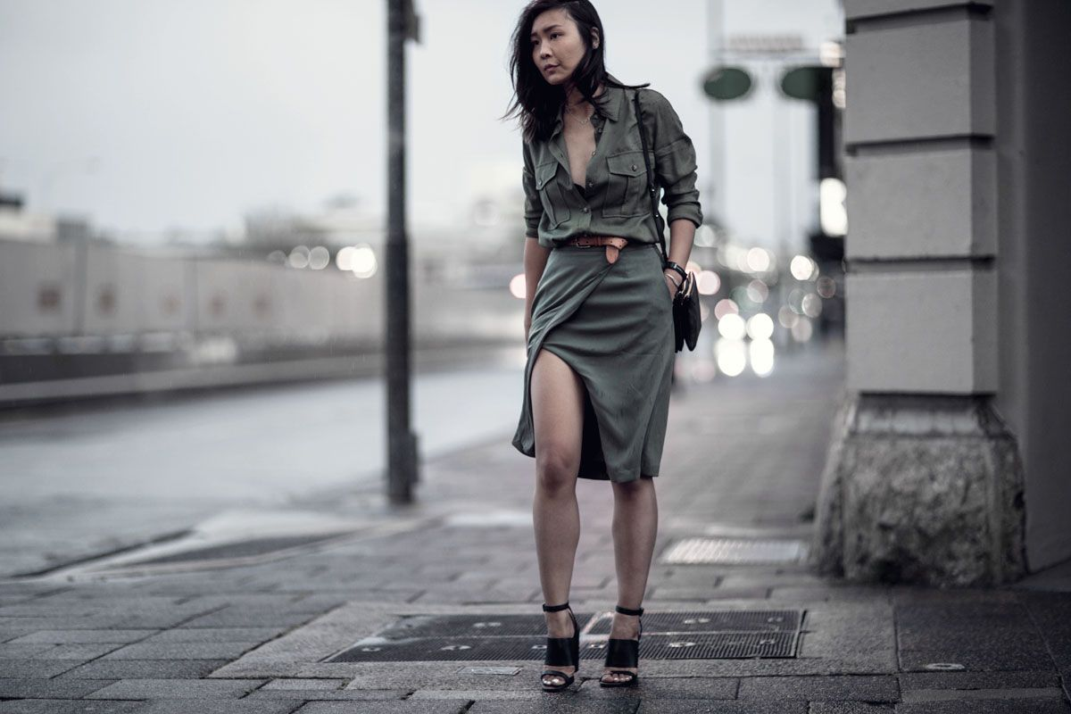 Khaki: How to wear it for spring