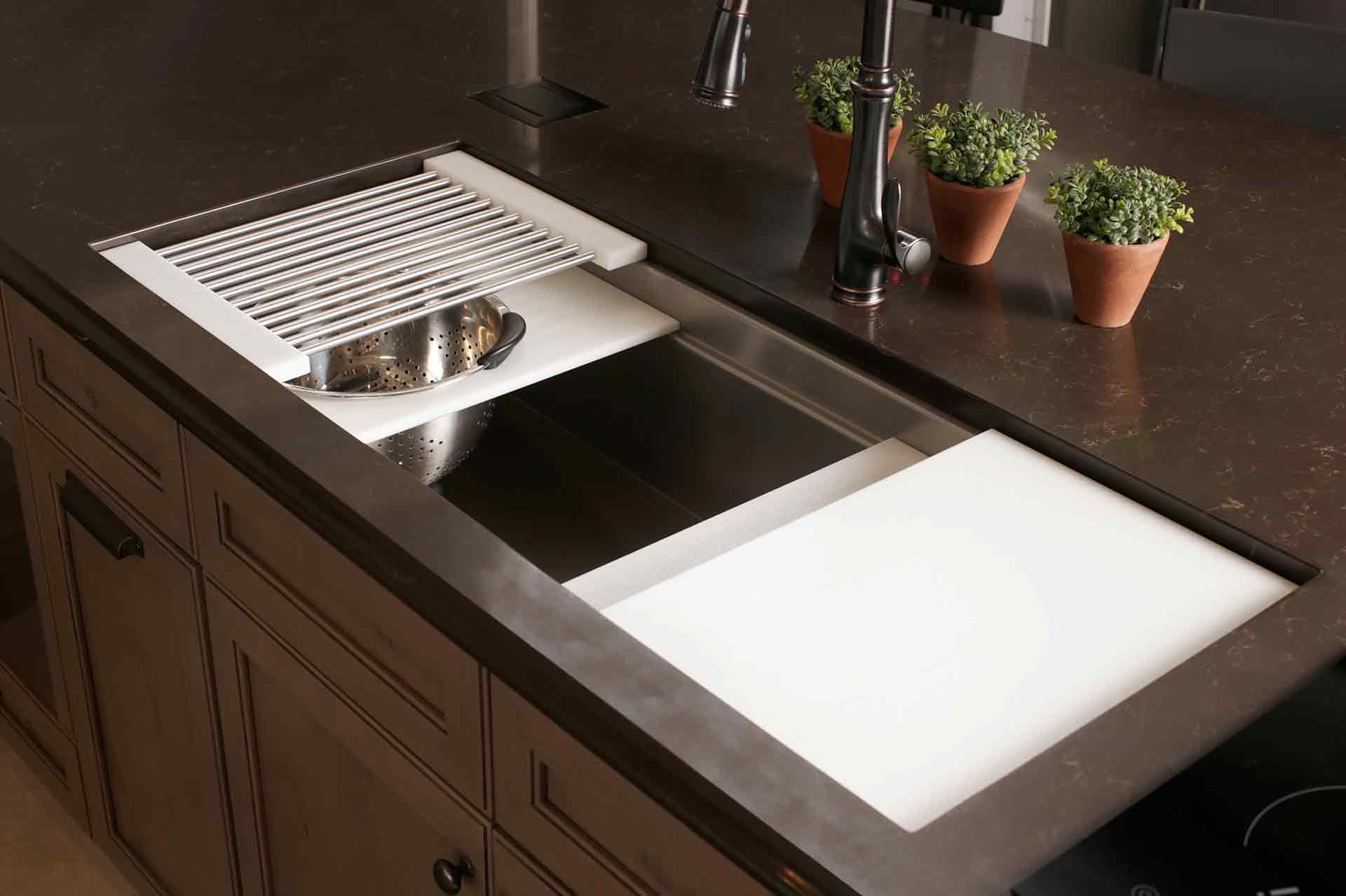 Iws 4 Stainless Steel Kitchen Sink White Resin Culinary Kit