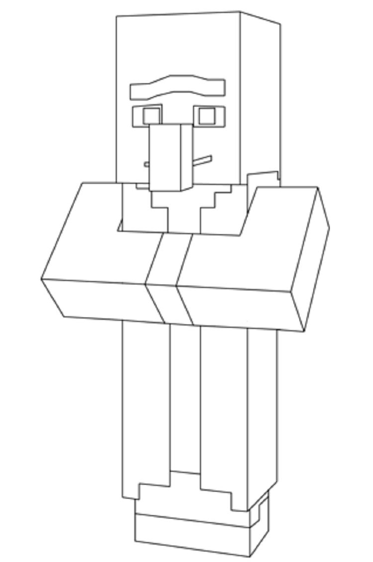 minecraft villager coloring pages printable   Coloring Pages For ...