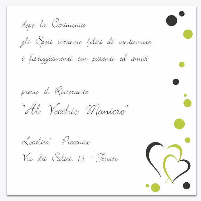 "Assez Invito matrimonio ""Green Apple"" 