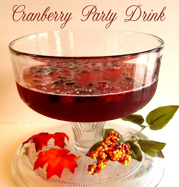 Cranberry Party Drink -- this shows non-alcoholic but im thinking it would be good with vodka also!