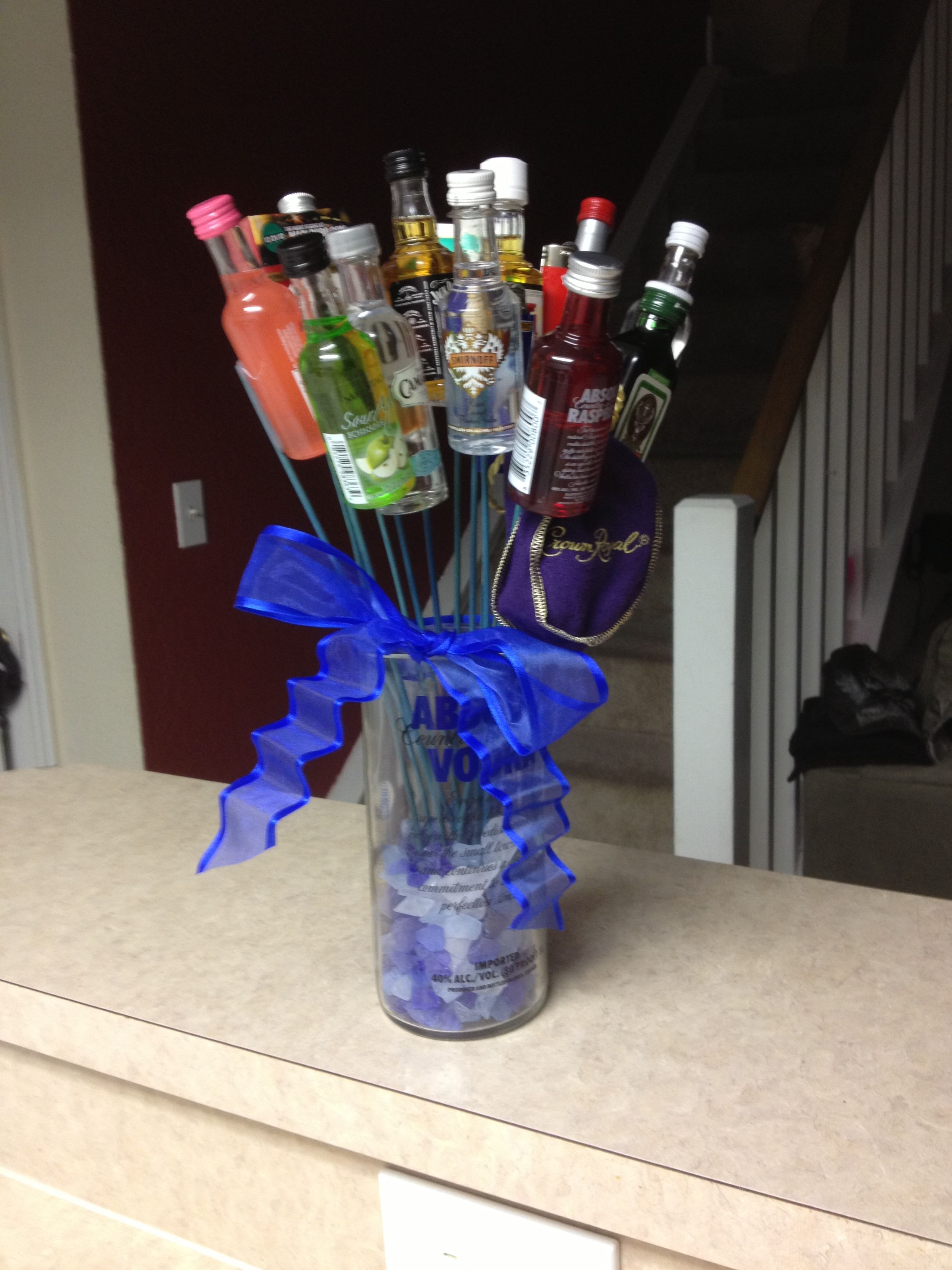 Different view Man Bouquet we made this for my daughters