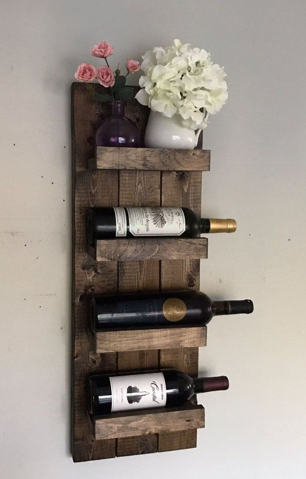 20 Stylish Rustic Wooden Hanging Wine Rack Design Ideas Trendhmdcr Wine Rack Wall Wine Bottle Display Wooden Wine Rack