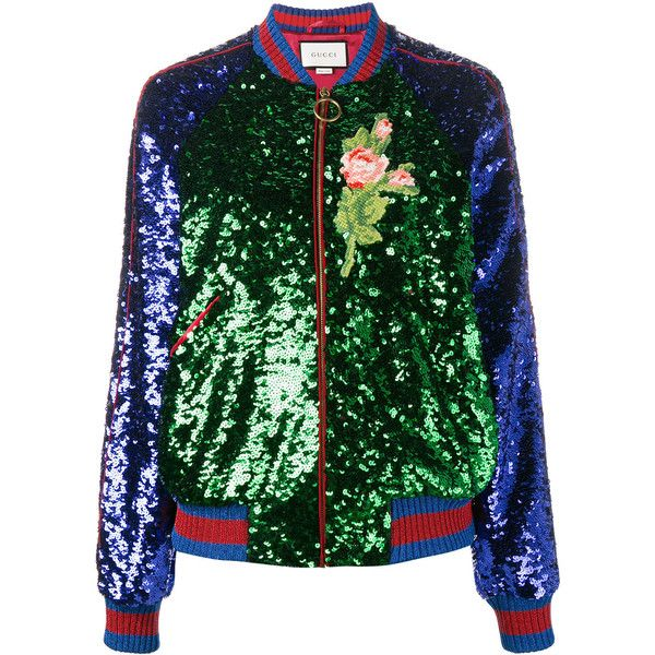 d0629363b Gucci Embellished Sequins Bomber Jacket (£3,685) ❤ liked on ...