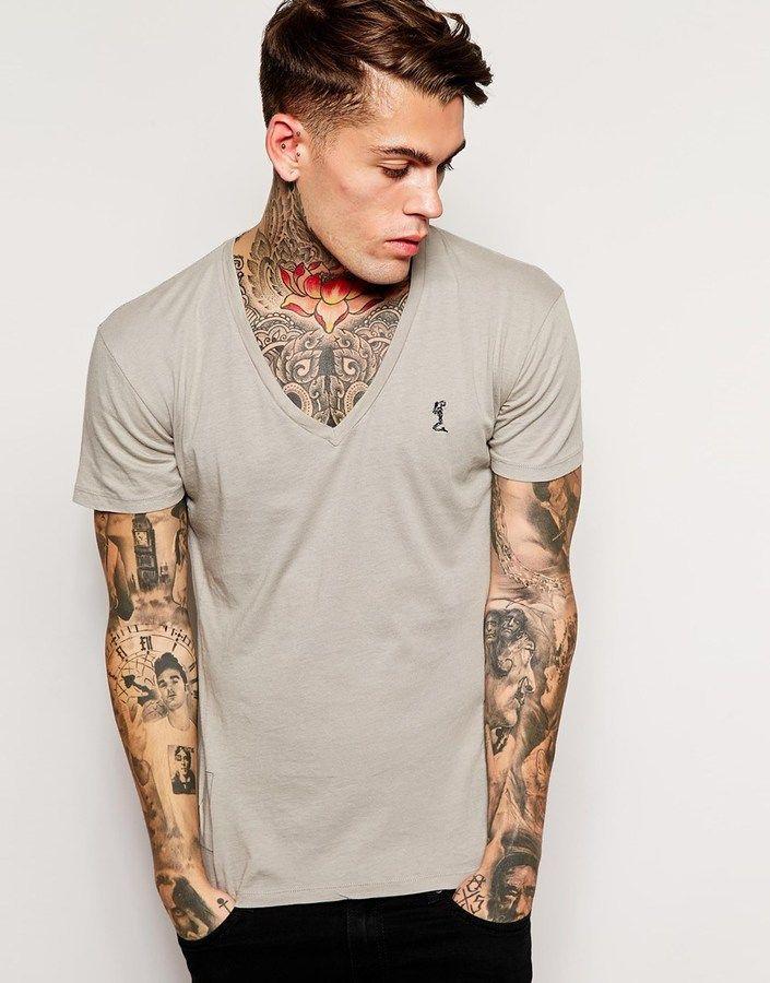 Image 1 of Religion Basic T-Shirt with Deep V Neck
