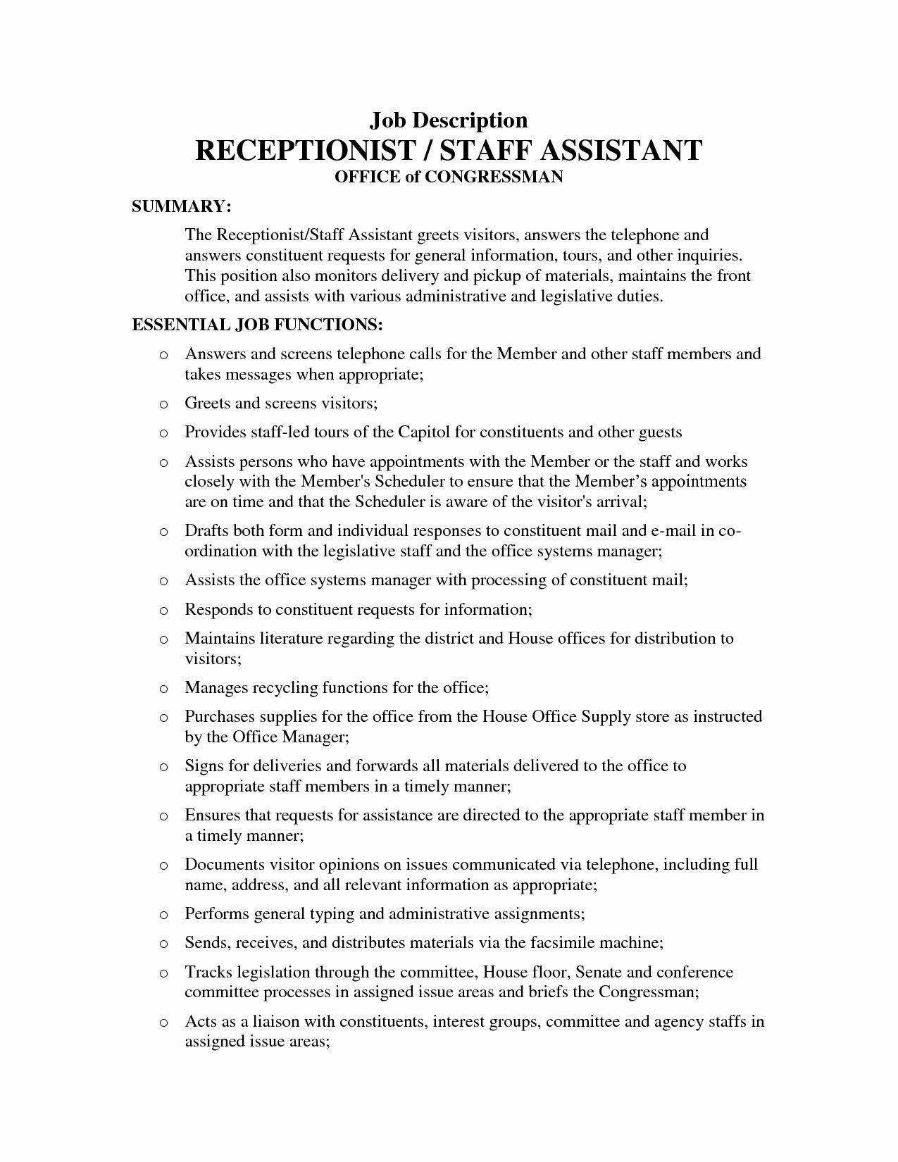 23 Medical Office Assistant Job Description Resume In