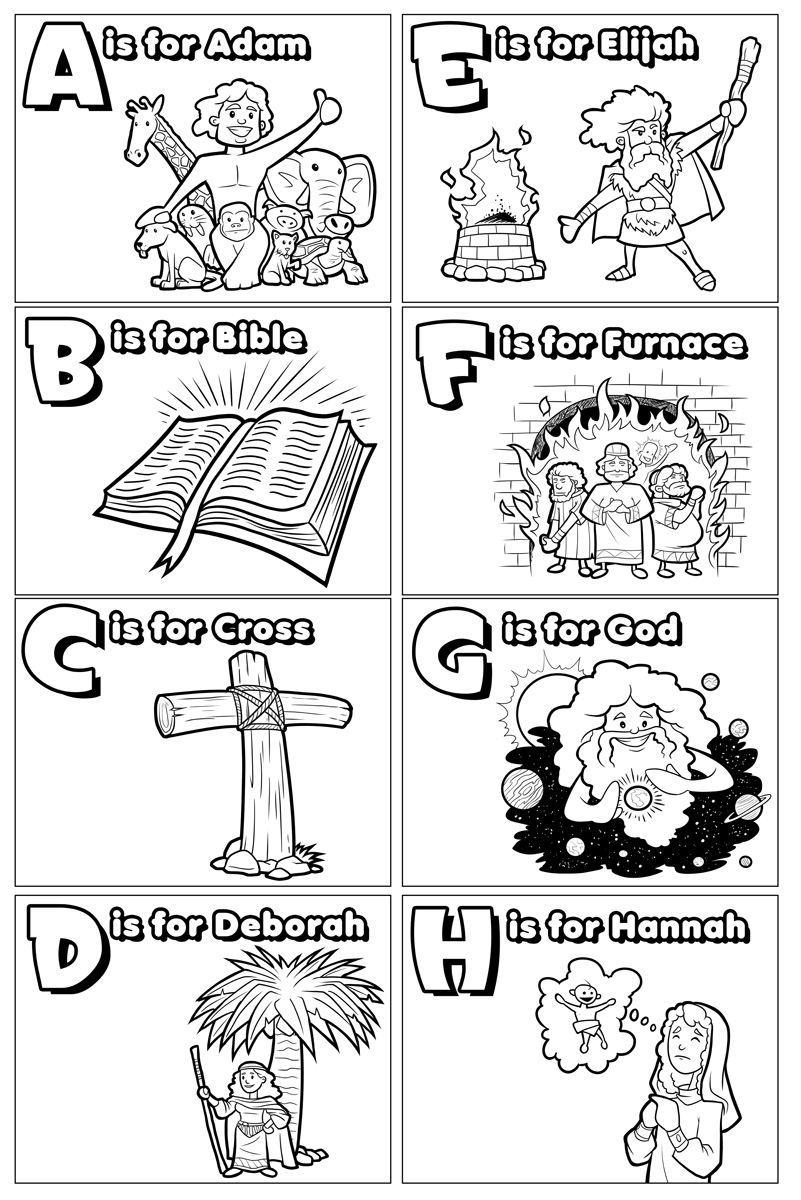 I\'ve been working on some ABC\'s of the Bible coloring pages ...