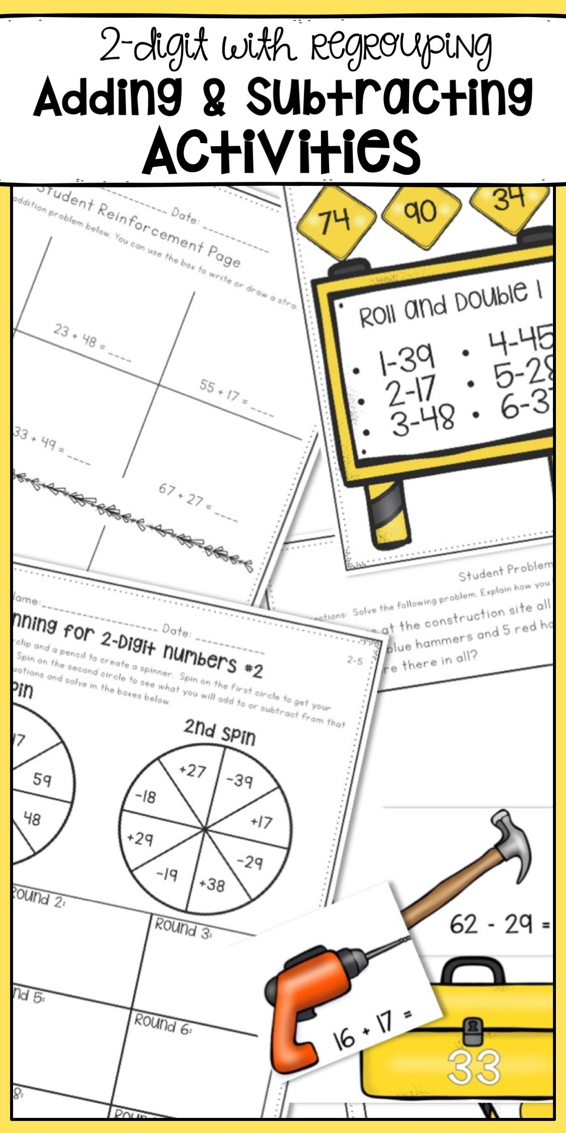 Two Digit Addition And Subtraction Worksheets And