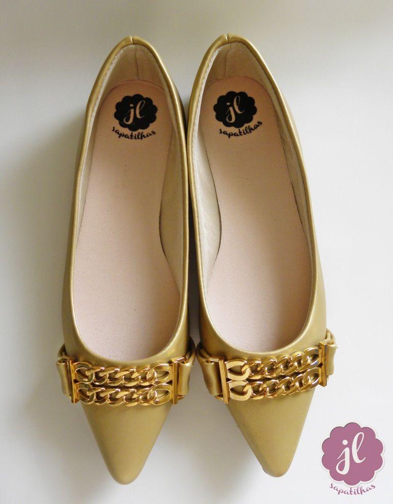 Sapatilha Dourada