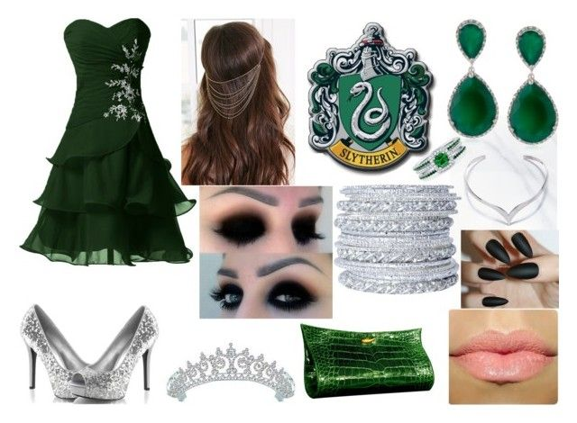 """""""Harry Potter-Heir of Slytherin"""" by mystery-girl-loves-rock ❤ liked on Polyvore featuring BERRICLE, Chamak by Priya Kakkar, Forever 21, Bling Jewelry, Lautrec and harrypotter"""