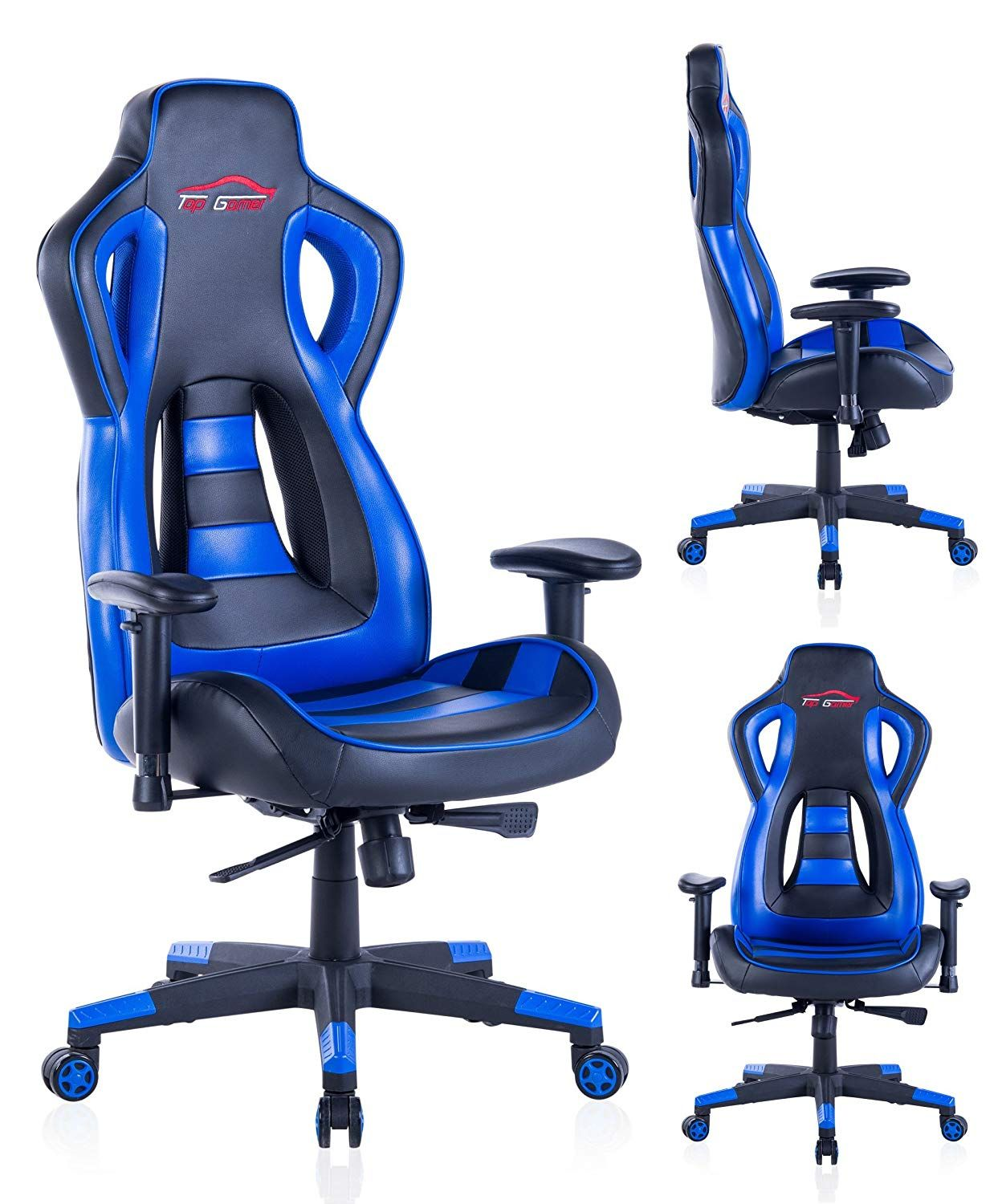 Top Gaming Chair Herman Miller Germany Gamer Pc Computer Game Chairs For Video Blue 02 Only 9 Left In Stock Order Soon Price 109 99