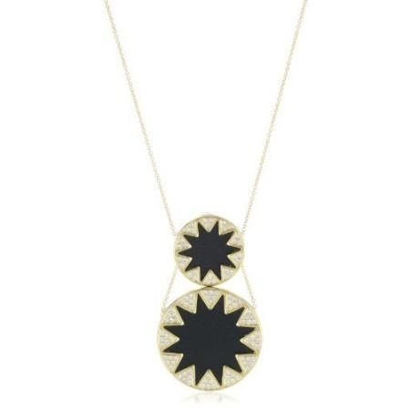 House of Harlow 1960 14k Yellow Gold-Plated Sunburst Stations Necklace