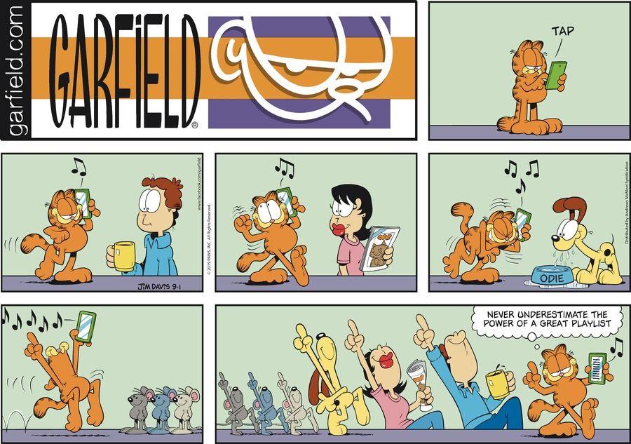 Garfield By Jim Davis For September 01 2019 Gocomics Com Garfield Comic Strips Garfield And Friends Garfield Comics