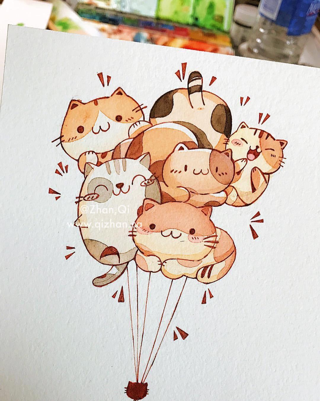 watercolourartist #watercolor #illustration #illustrations #drawing # painting #watercolour #cats | Minh họa động vật, Nhật ký nghệ thuật, Kỳ ảo