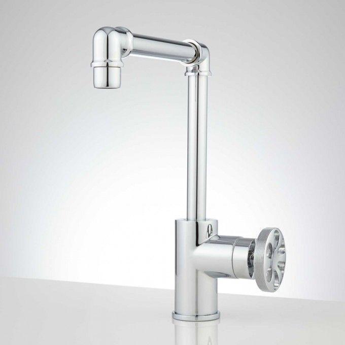 Edison Tall Single Hole Br Bathroom Faucet With Pop Up Drain