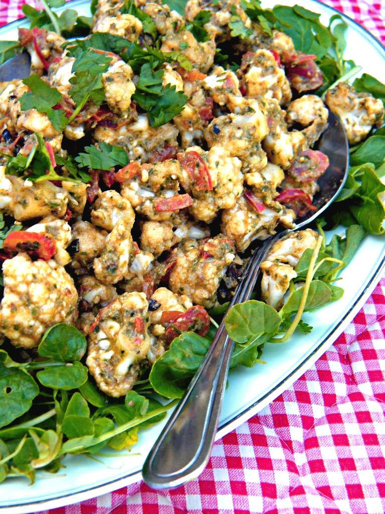 Addicted To Veggies Pesto Marinara Cauliflower Plate