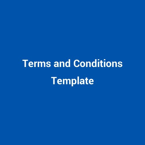 Sample Terms and Conditions Template Conditioning, Template and
