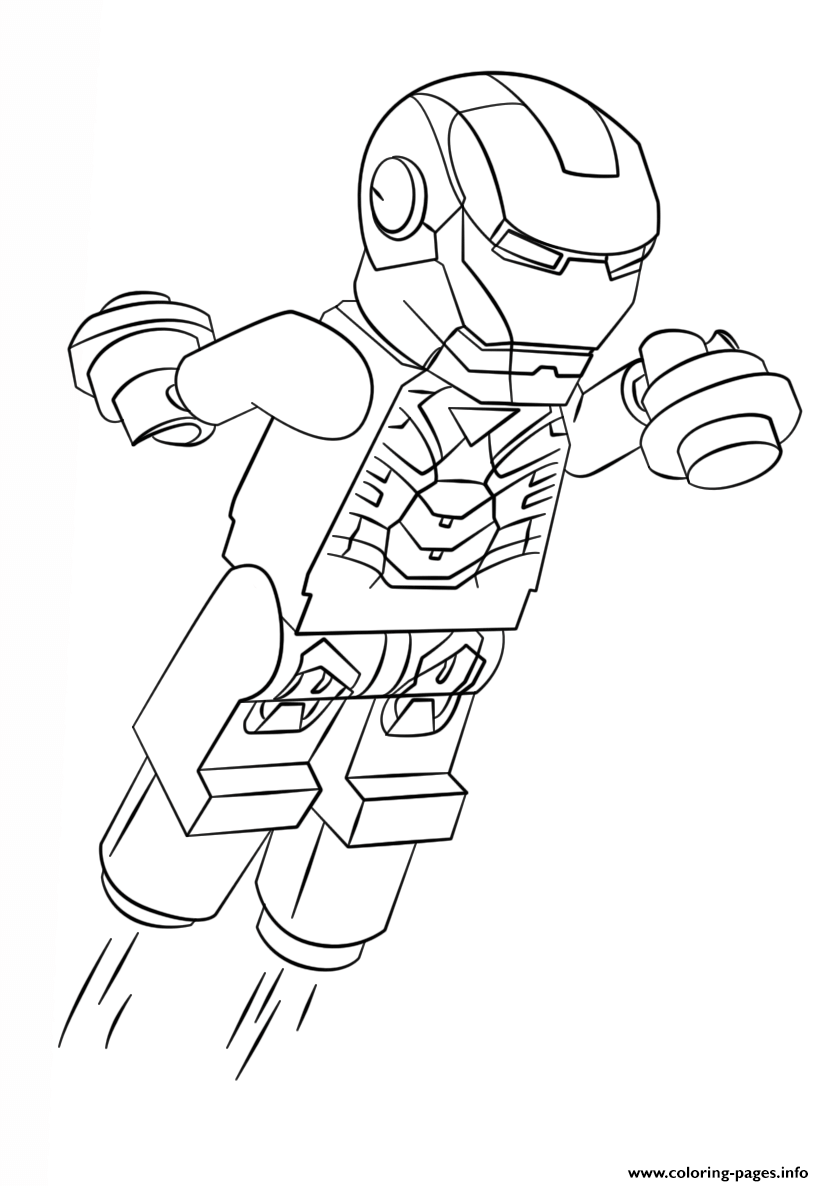 Print lego iron man coloring pages Avengers coloring