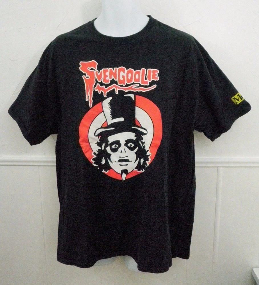 Black t shirt xl - Svengoolie Black T Shirt Mens Xl Sci Fi Horror Movie Host Chicken Thrower Me Tv