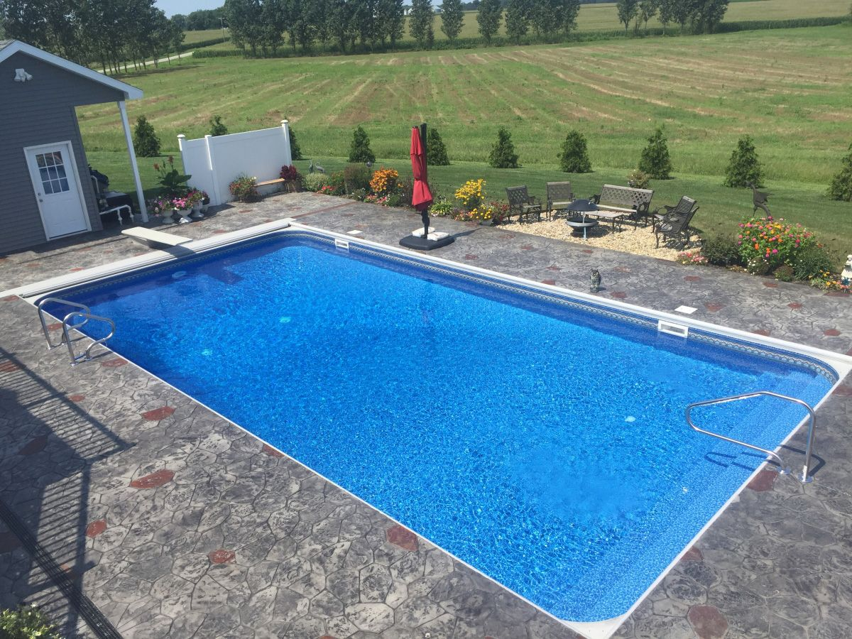 """16' x 34' Rectangle Swimming Pool Kit with 42"""" Steel Walls"""
