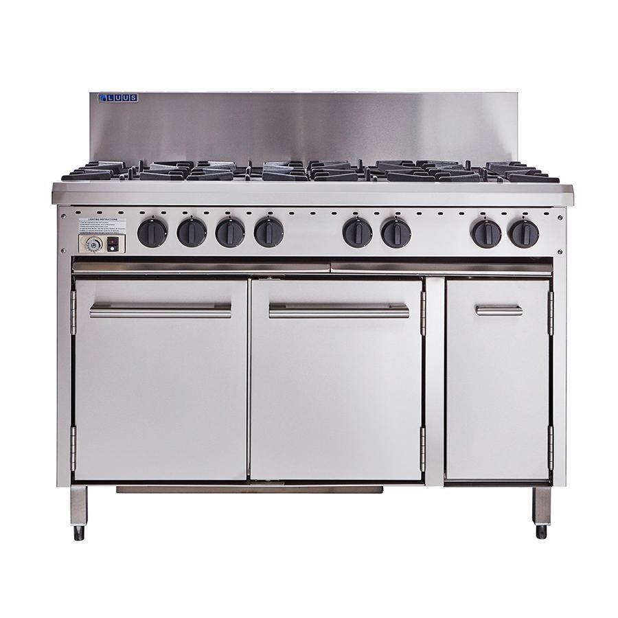 Luus Essentials 8 Burner Oven 1200mm Cro 8b P Oven Burner Oven Stainless Steel Splashback