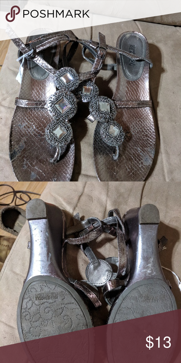 3456e52c3e7 Has about a 1 inch heel. Very cute and blingy. Kenneth Cole Reaction Shoes  Sandals