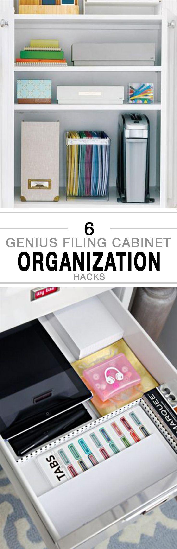 6 Genius Filing Cabinet Organization Hacks -   Organization ...