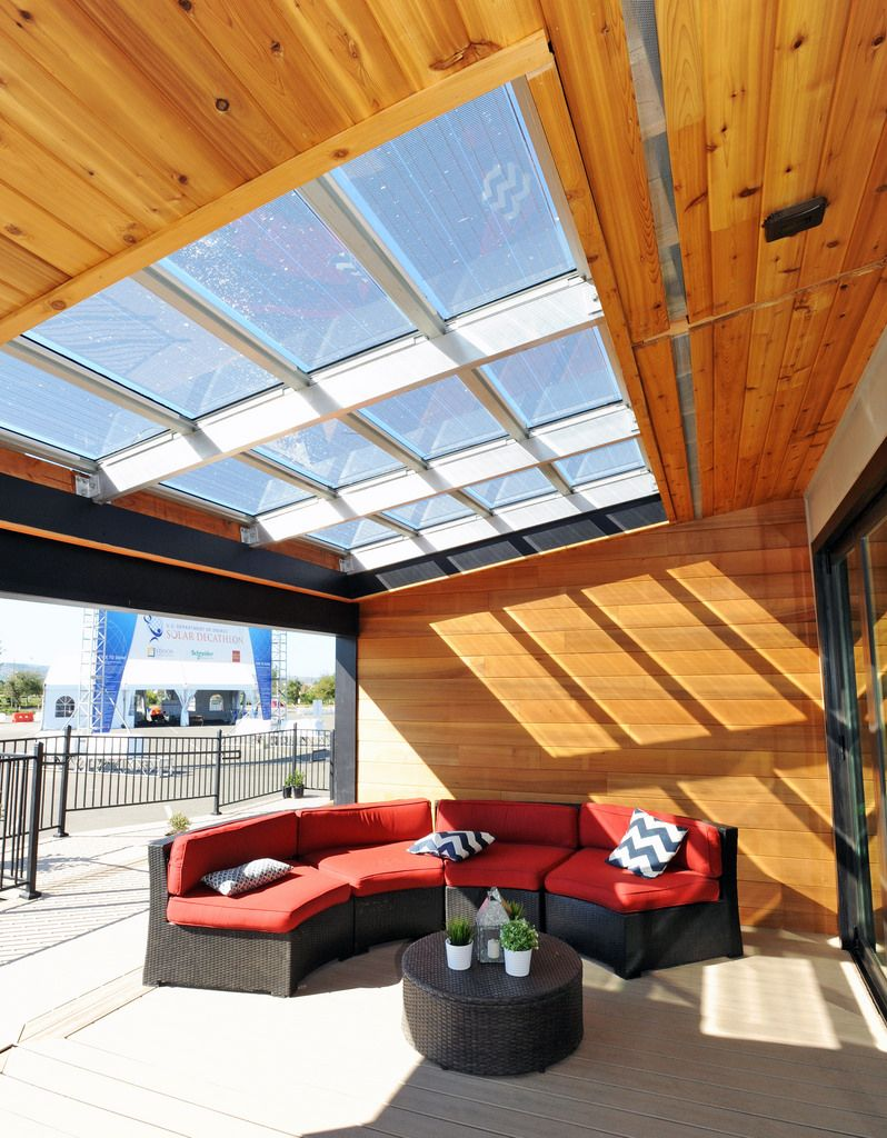 Interior of California State University, Sacramento, at the U.S. Department of Energy Solar Decathlon 2015 at the Orange County Great Park, Irvine, California  (Credit: Thomas Kelsey/U.S. Department of Energy Solar Decathlon)