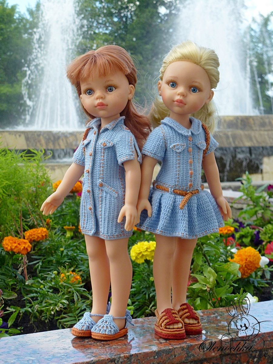 Алины игрушки - вязание для кукол #oyuncakbebekelbiseleri