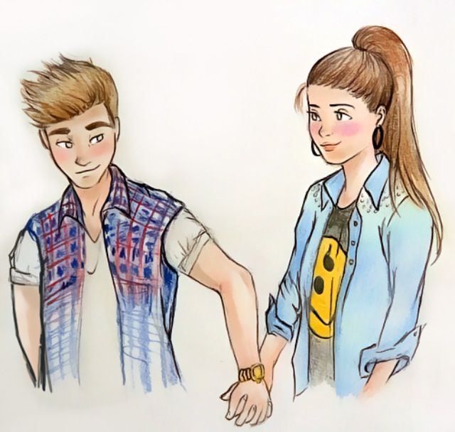 Girl And A Guy Holding Hands Drawings Cute Girl Drawing Bff